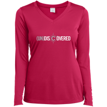 Load image into Gallery viewer, (un)discovered Ladies' LS Performance V-Neck T-Shirt