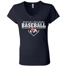 Load image into Gallery viewer, Plate Logo Ladies' Jersey V-Neck T-Shirt