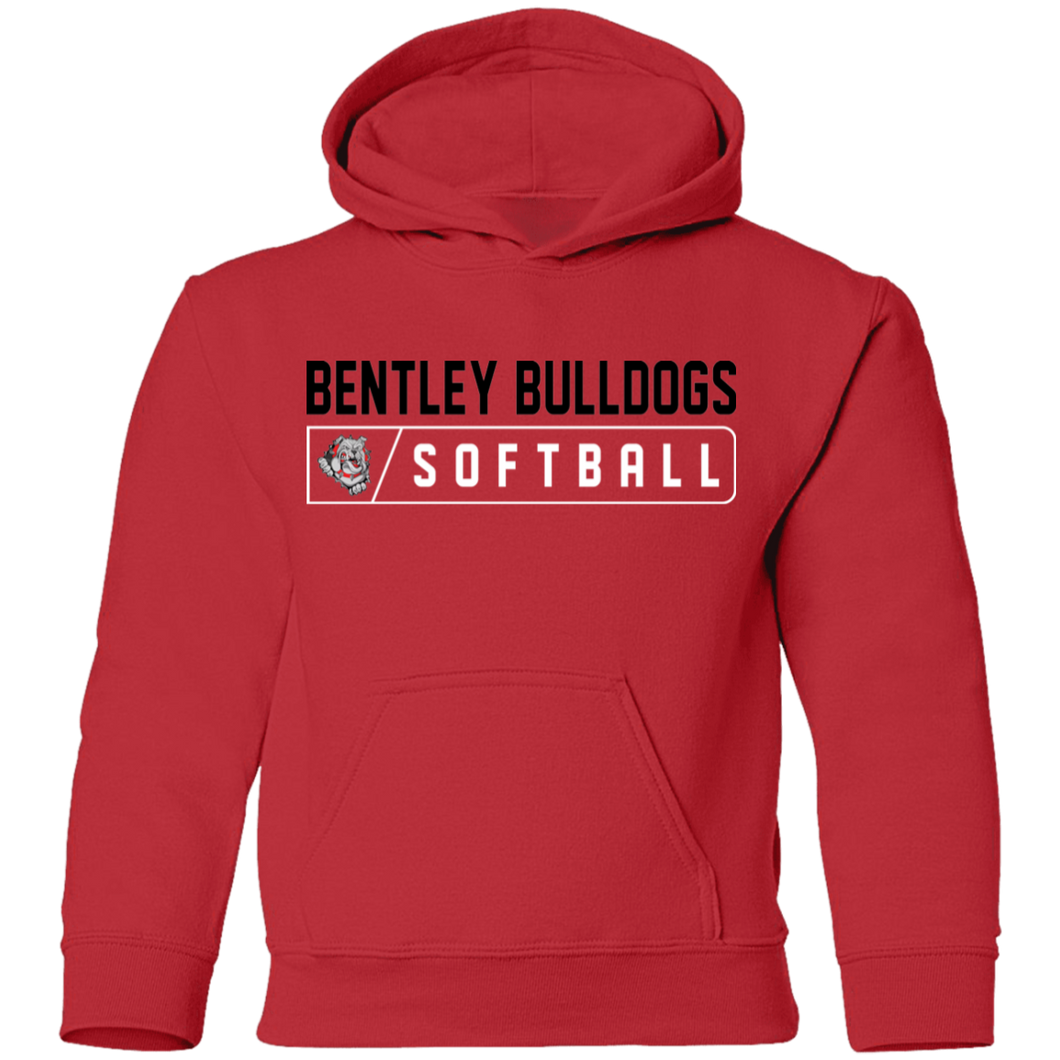 Lady Bulldogs Bar logo (Black) Youth Pullover Hoodie