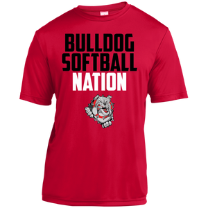 Lady Bulldogs Script Youth Moisture-Wicking T-Shirt