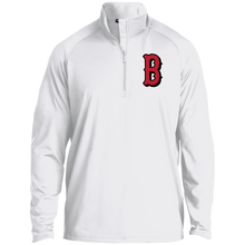 Load image into Gallery viewer, B (Red) 1/2 Zip Raglan Performance Pullover