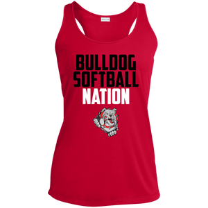 Lady Bulldogs Nation Ladies' Racerback Moisture Wicking Tank
