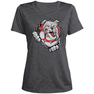 Lady Bulldogs Ladies' Heather Dri-Fit Moisture-Wicking T-Shirt