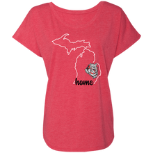 Load image into Gallery viewer, Lady Bulldogs Home Ladies' Triblend Dolman Sleeve