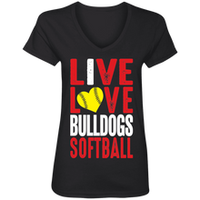 Load image into Gallery viewer, Lady Bulldogs Live/Love Ladies' V-Neck T-Shirt