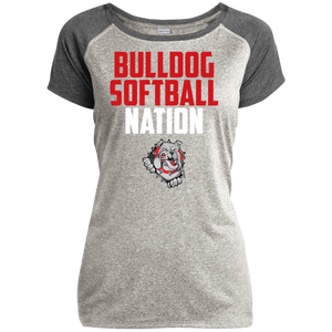Lady Bulldogs Nation Ladies Heather on Heather Performance T-Shirt