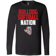Load image into Gallery viewer, Lady Bulldogs Nation Men's Jersey LS T-Shirt