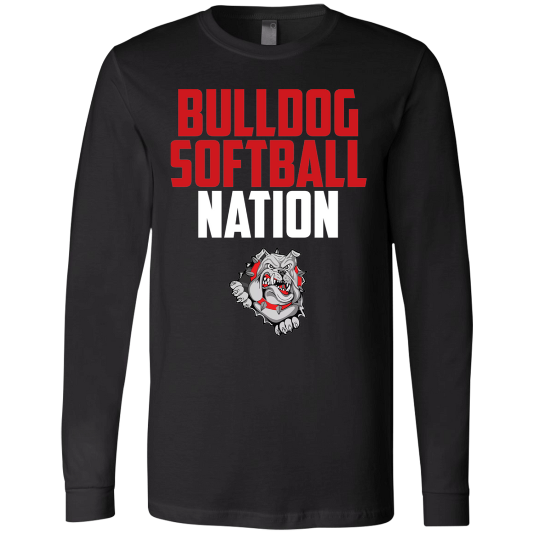 Lady Bulldogs Nation Men's Jersey LS T-Shirt