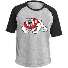 Load image into Gallery viewer, Bulldog Logo  SS Colorblock Raglan Jersey