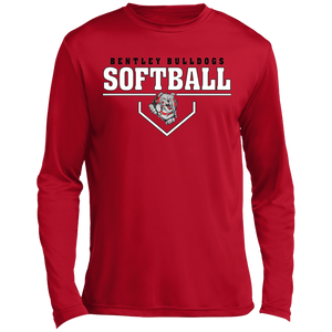 Lady Bulldogs Plate Logo Long sleeve Moisture Absorbing T-Shirt