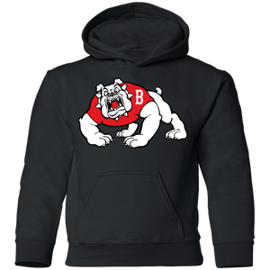 Bulldogs Logo  Youth Pullover Hoodie