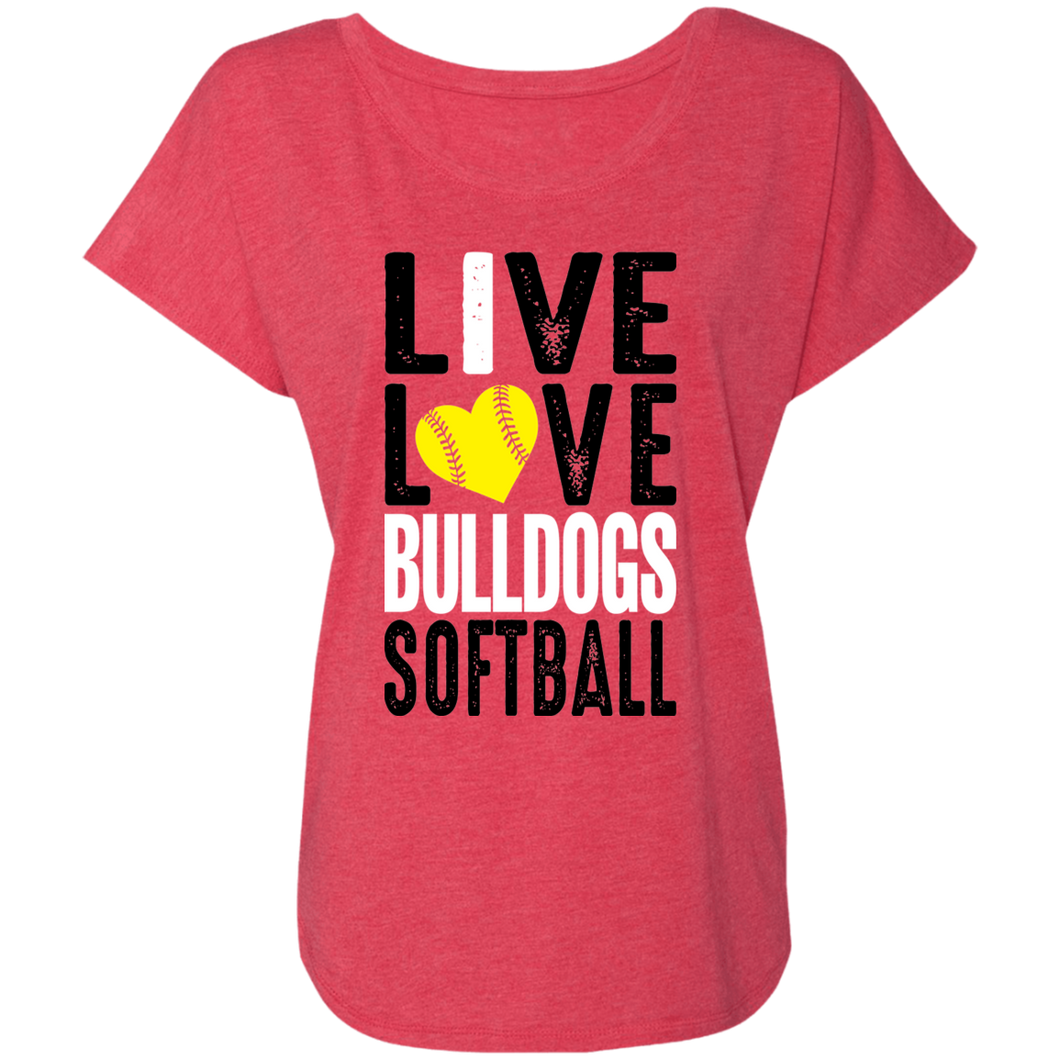 Lady Bulldogs Live/Love Ladies' Triblend Dolman Sleeve