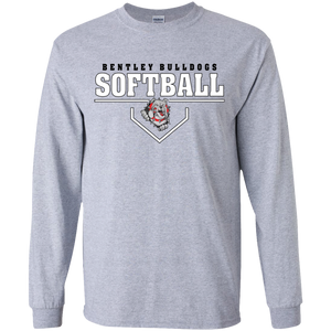 Lady Bulldogs Plate Logo Youth LS T-Shirt