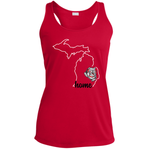 Lady Bulldogs Home Ladies' Racerback Moisture Wicking Tank