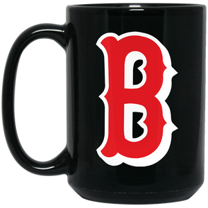 Lady Bulldogs B Logo (red)  15 oz. Black Mug