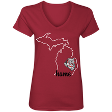 Load image into Gallery viewer, Lady Bulldogs Home Ladies' V-Neck T-Shirt