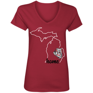 Lady Bulldogs Home Ladies' V-Neck T-Shirt