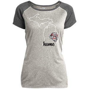Lady Bulldogs Home Ladies Heather on Heather Performance T-Shirt