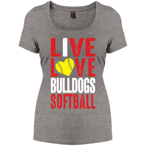 Lady Bulldogs Live/Love Women's Perfect Scoop Neck Tee