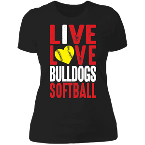 Lady Bulldogs Live/Love Ladies' Boyfriend T-Shirt