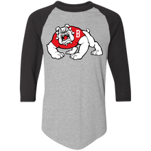 Load image into Gallery viewer, Bulldog Logo  Colorblock Raglan Jersey
