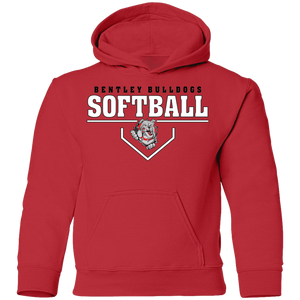 Lady Bulldogs Plate Logo Youth Pullover Hoodie