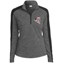 Load image into Gallery viewer, Lady Bulldogs Ladies' Electric Heather Colorblock 1/4-Zip Pullover