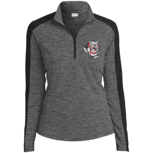 Lady Bulldogs Ladies' Electric Heather Colorblock 1/4-Zip Pullover