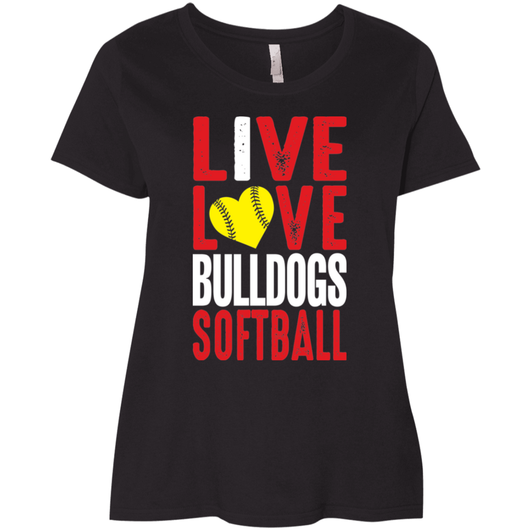 Lady Bulldogs Live/Love Ladies' Curvy T-Shirt