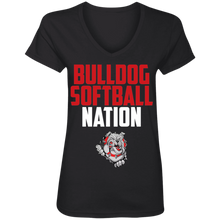 Load image into Gallery viewer, Lady Bulldogs Nation Ladies' V-Neck T-Shirt