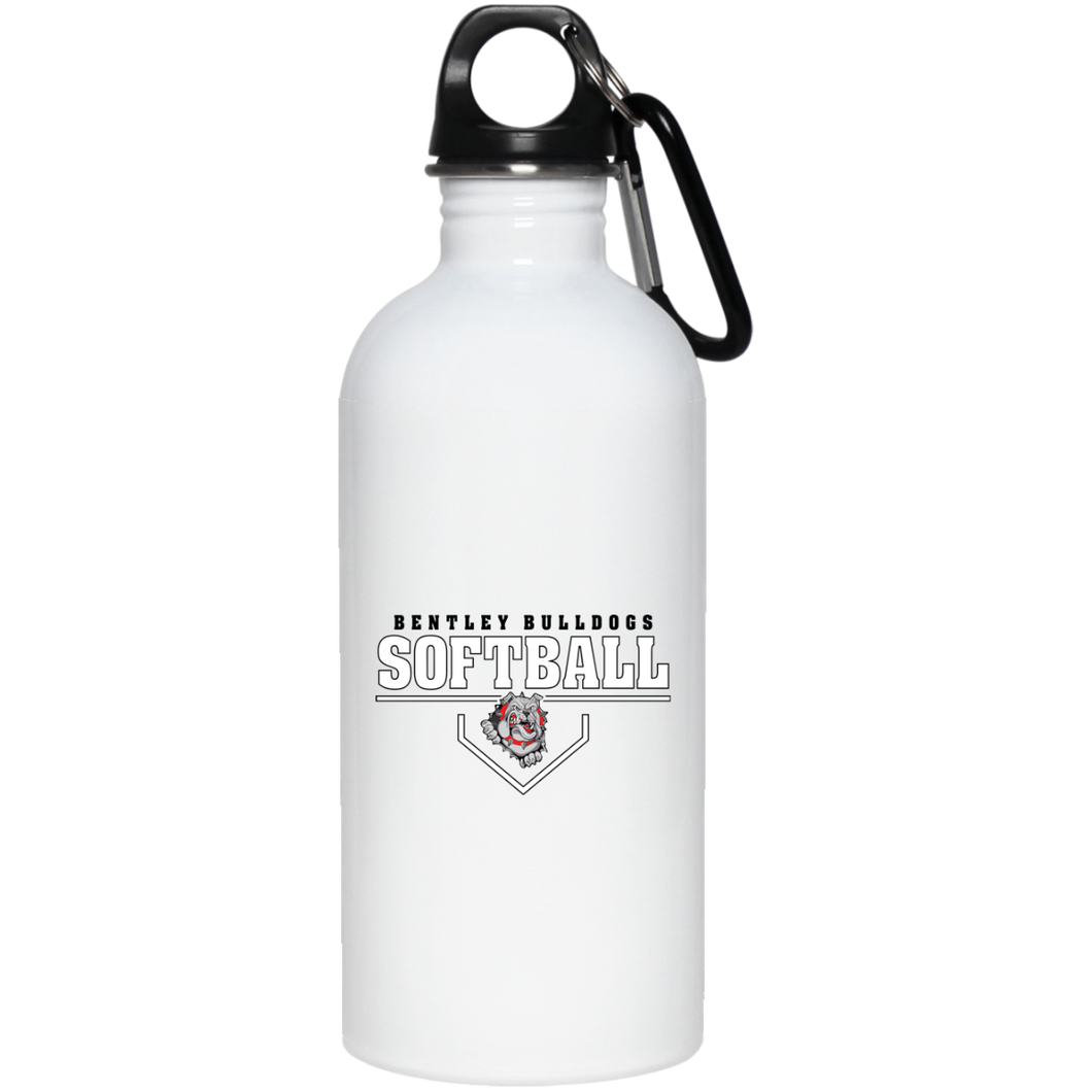 Lady Bulldogs Plate Logo 20 oz. Stainless Steel Water Bottle