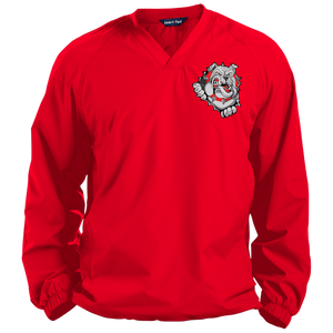 Lady Bulldogs Pullover V-Neck Windshirt