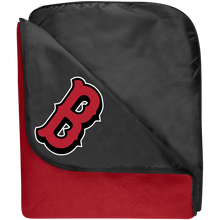 Load image into Gallery viewer, Lady Bulldogs B Logo (Red) Fleece & Poly Travel Blanket