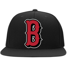 Load image into Gallery viewer, B (Red) Flat Bill High-Profile Snapback Hat