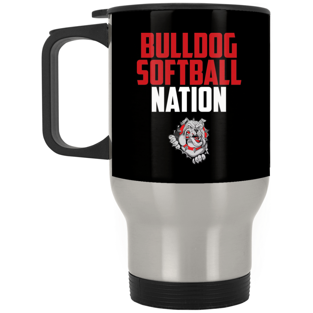 Lady Bulldogs Nation Silver Stainless Travel Mug