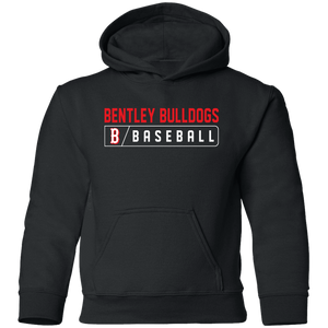 Bulldogs Bar Logo (red)  Youth Pullover Hoodie