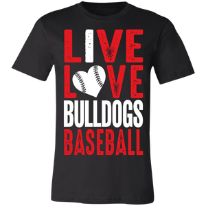I Live/Love Bulldogs Jersey Short-Sleeve T-Shirt
