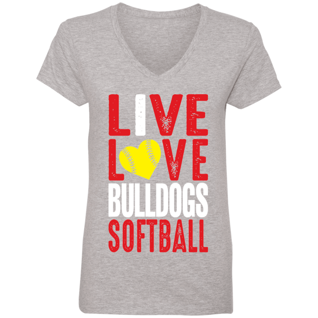 Lady Bulldogs Live/Love Ladies' V-Neck T-Shirt