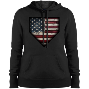 Barnwood Americana  Ladies' Pullover Hooded Sweatshirt