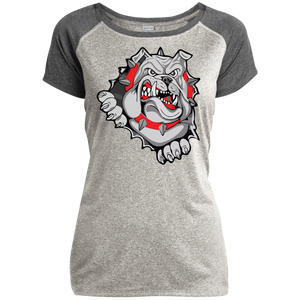 Lady Bulldogs Ladies Heather on Heather Performance T-Shirt