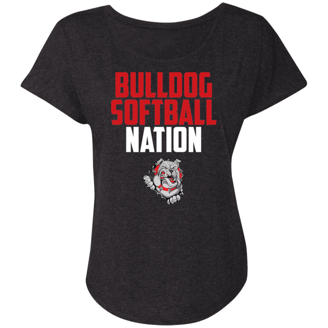 Lady Bulldogs Nation Ladies' Triblend Dolman Sleeve