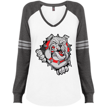 Load image into Gallery viewer, Lady Bulldogs Ladies' Game LS V-Neck T-Shirt