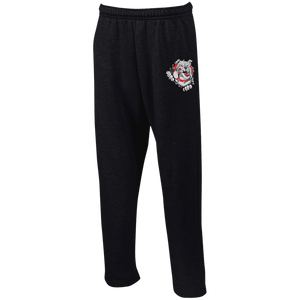 Lady Bulldogs Open Bottom Sweatpants with Pockets