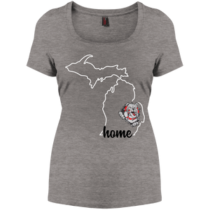 Lady Bulldogs Home Women's Perfect Scoop Neck Tee