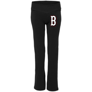 Lady Bulldogs B Logo (White) Ladies' Yoga Pants