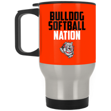 Load image into Gallery viewer, Lady Bulldogs Nation Silver Stainless Travel Mug