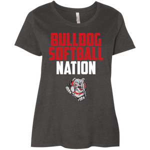 Lady Bulldogs Nation Ladies' Curvy T-Shirt