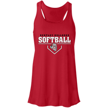 Load image into Gallery viewer, Lady Bulldogs Plate Logo Flowy Racerback Tank