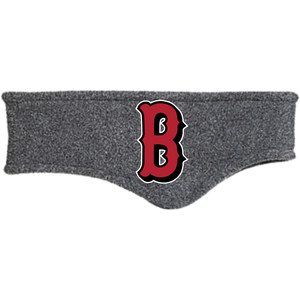 Lady Bulldogs B Logo (Red) Fleece Headband