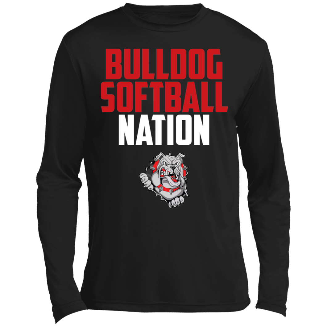 Lady Bulldogs Nation Long sleeve Moisture Absorbing T-Shirt